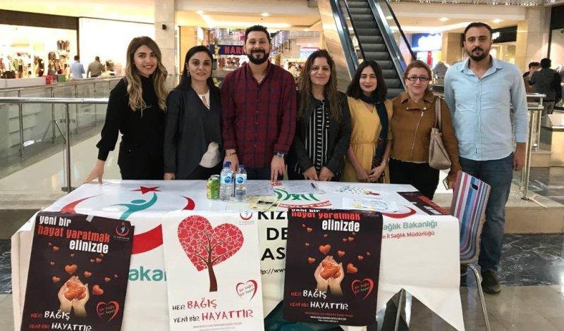 Kızıltepe'de Organ Bağışı İçin Stand Kuruldu