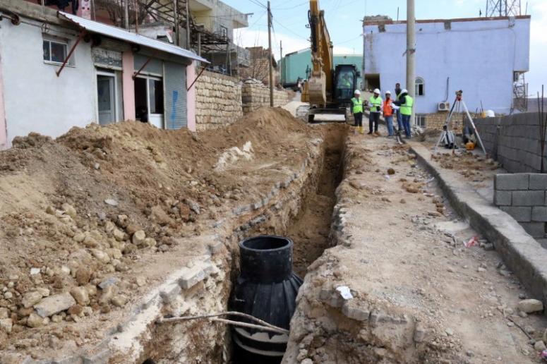 Mardin'de 7 bin 370 metre kanalizasyon hattı döşendi