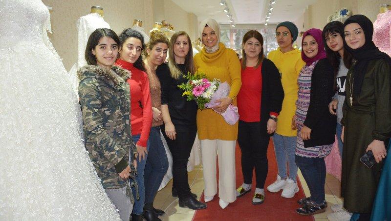 Kızıltepe'deki kadın girişimcilere destek ziyareti
