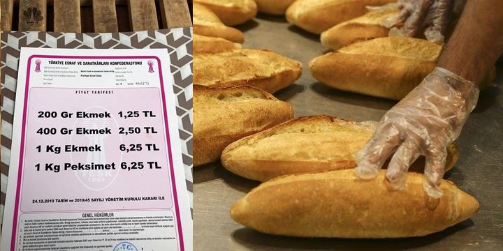 Kızıltepe'de ekmek fiyatı zamlandı
