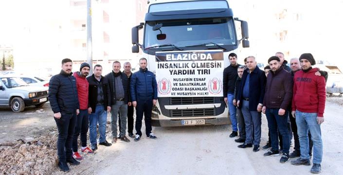 Mardin'den Elazığ'a yardım eli