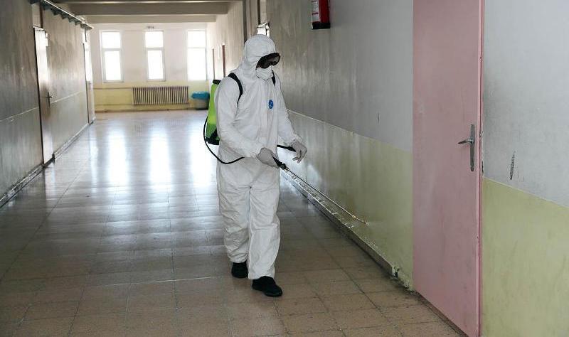 Mardin'deki okullar dezenfekte ediliyor