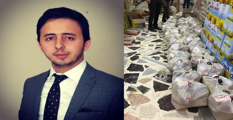 Kızıltepe'de genç hayırseverden yardıma muhtaç ailelere yardım