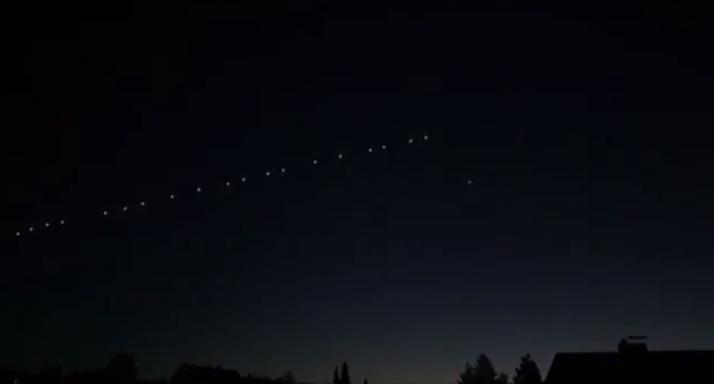 'Starlink' uydu serisi Mardin'den görüldü