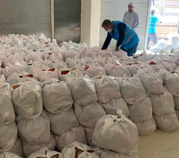 Kızıltepe Ticaret Borsasından 600 aileye gıda yardımı