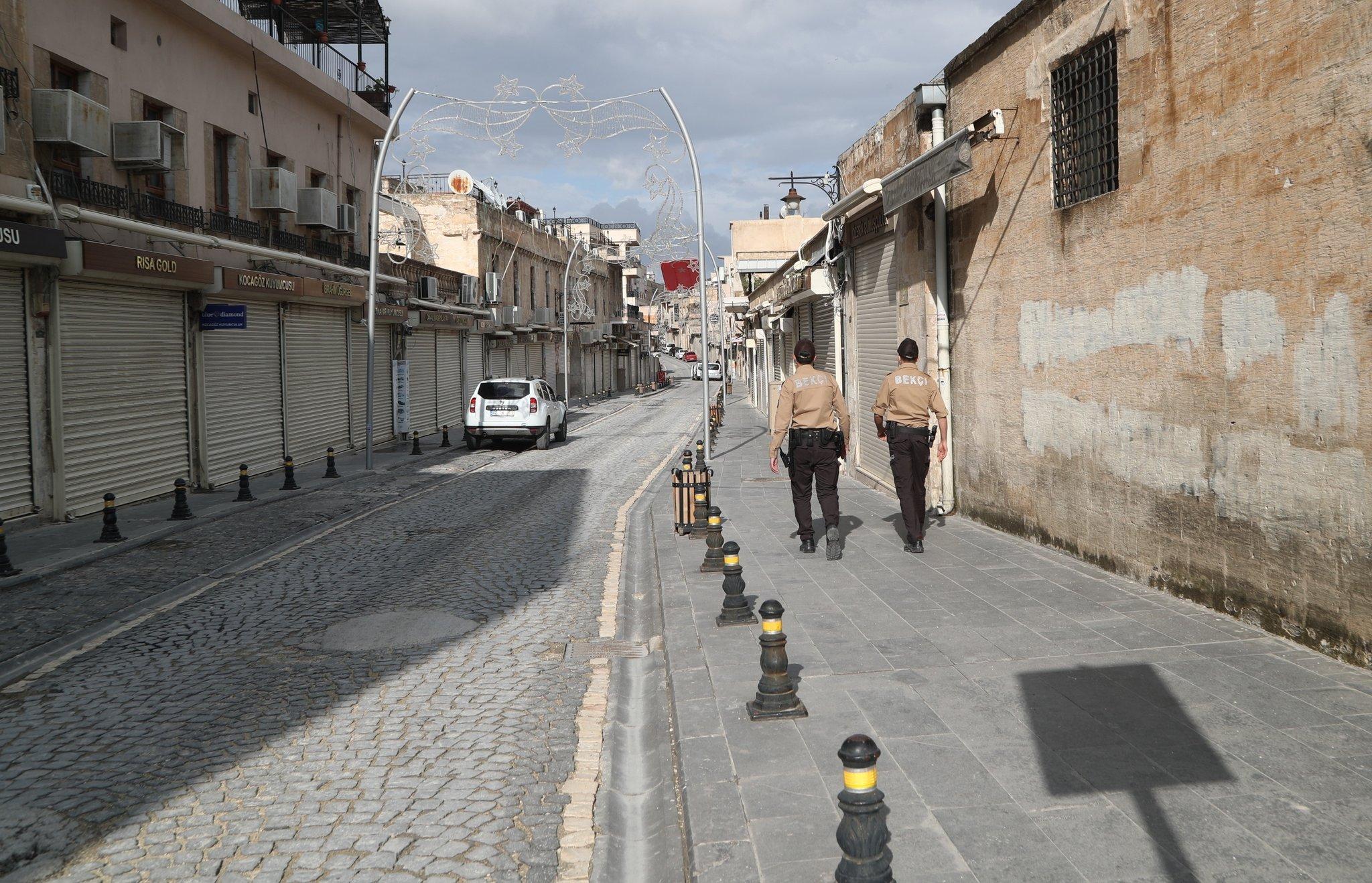 Sokağa çıkma kısıtlamasının son gününde Mardin'de sessizlik hakim