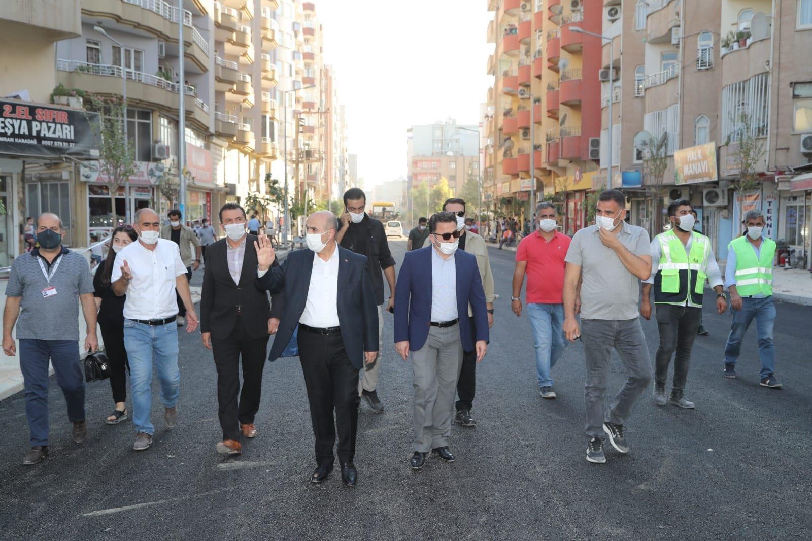Kızıltepe Şahkulubey Caddesinde asfalt dökümü başladı