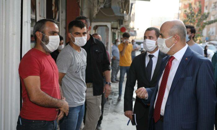 Vali Demirtaş'tan Kızıltepe'de koronavirus denetimi