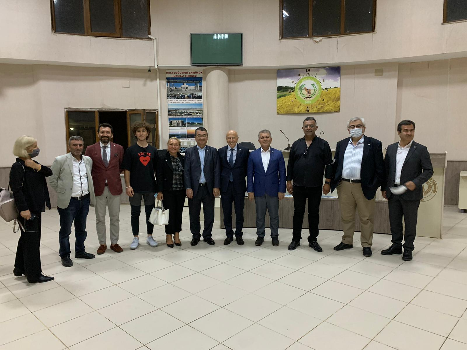 İstanbul Sanayici ve İş İnsanları Heyeti'nden MTDF ve Hububat Merkezine Ziyaret