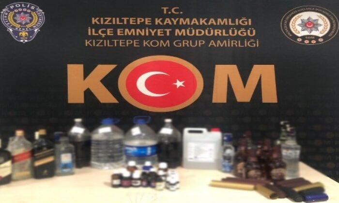 Kızıltepe'de sahte içki operasyonu: 1 gözaltı