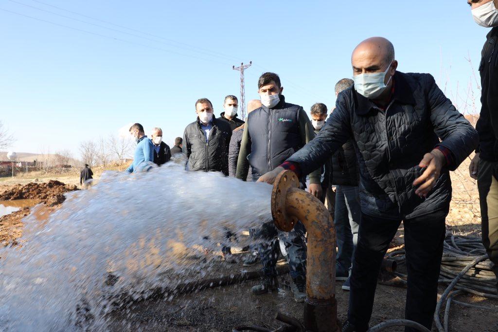 Artuklu'da Sondaj Çalışmalarında Suya Ulaşıldı