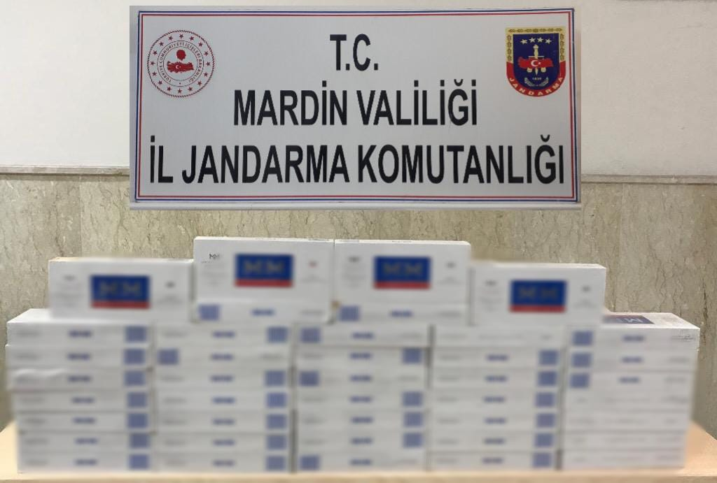 Mardin'de 800 paket kaçak sigara ele geçirildi