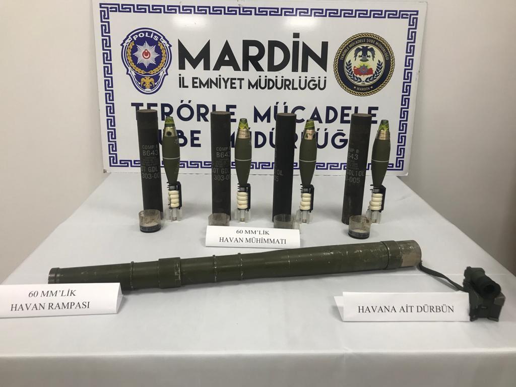 Mardin'de havan rampası ile havan mühimmatları ele geçirildi