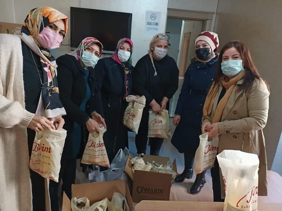 AK Partili kadınlardan karantinadaki vatandaşlara şifa paketi
