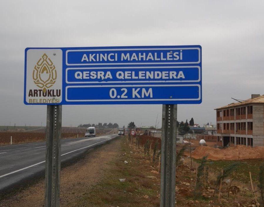 Artuklu Belediyesi Kürtçe tabelalardaki yanlışı düzeltti