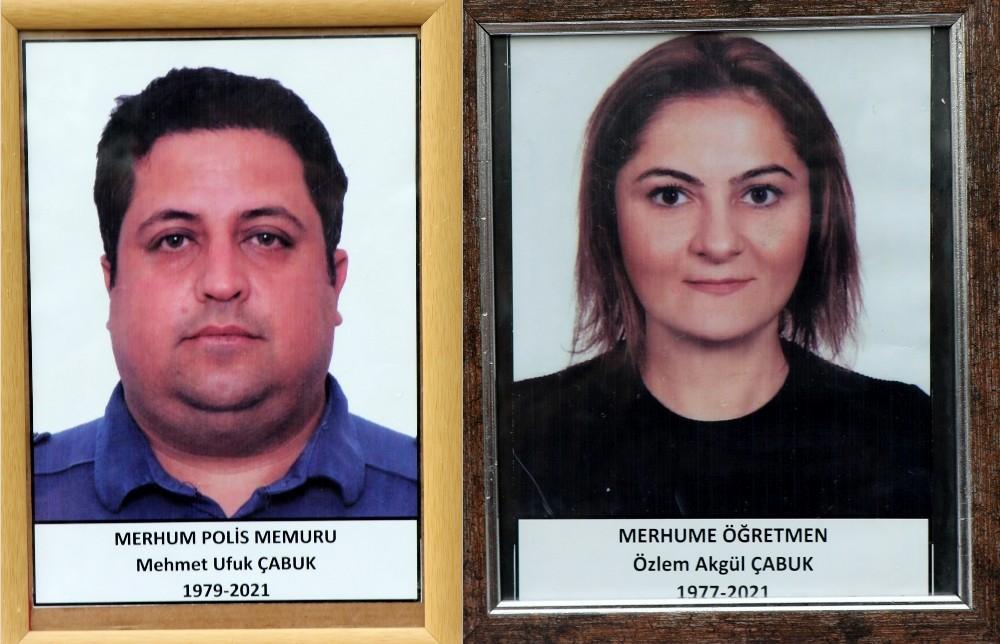 Erzincan'da polis memuru Mehmet Ufuk Çabuk ile öğretmen eşi Özlem Çabuk İki kişinin ölümüne çatıdan düşen buzun kombinin bacasını çıkarması neden olmuş