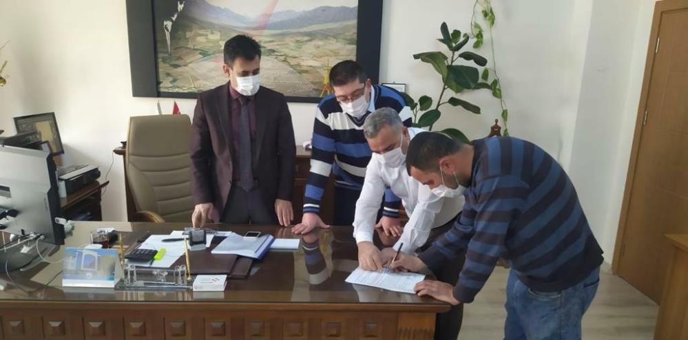 Mardin'de video konferans yöntemi ile dükkan satışı gerçekleştirildi