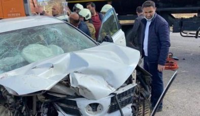 Mardin'de Jeep ile tanker çarpıştı: 2 yaralı