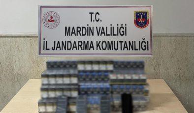 Mardin'de durdurulan yolcu otobüsünde kaçak sigara ele geçirildi