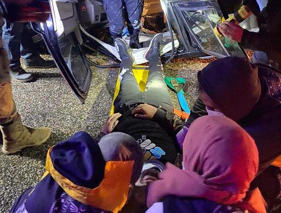 Mardin'de yağmur nedeniyle kayganlaşan yolda kaza: 1 yaralı