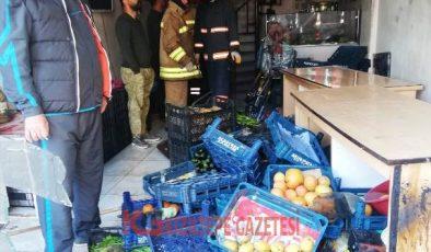 Kızıltepe'de Çiğköfte Dükkanındaki Yangın Ucuz Atlatıldı