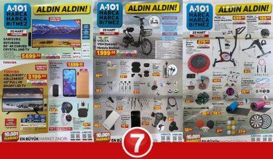 A101 25 Mart Aktüel Kataloğu! Spor aletleri, züccaciye, giyim, elektronik ve kamp ürünlerinde..