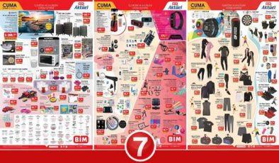 BİM 26 Mart Aktüel Kataloğu! Spor malzemeleri, elektronik, züccaciye ve tekstil ürünlerinde…