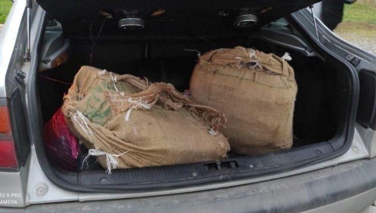 Polisten kaçan araçtan 53 kilo uyuşturucu çıktı