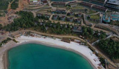 Sahile serilen beyaz kumdaki korkunç gerçek ortaya çıktı: Yüzde 55'i mermer tozu
