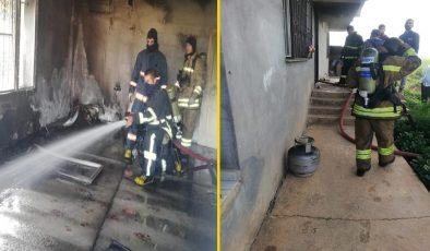 Kızıltepe'de evde çıkan yangında faciadan dönüldü