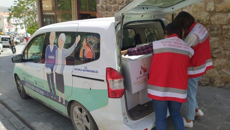 Artuklu Vefa Sosyal Destek Grubu 9 bin aileye yardım kolisi dağıttı