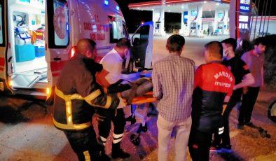 Mardin'de otomobil takla attı: 4 yaralı