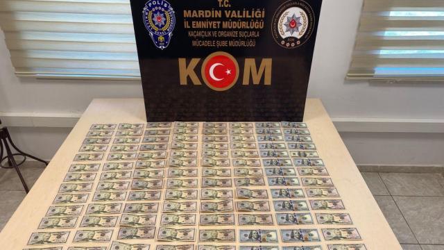 Mardin'de sahte dolar kalpazanlarına operasyon