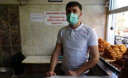 Mardin'de tatlıcı askıda tatlı kampanyasıyla ihtiyaç sahiplerine ulaşıyor