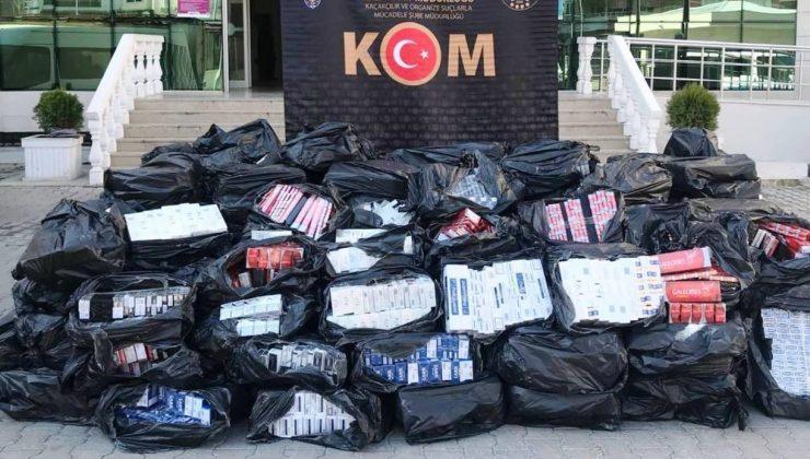 Şanlıurfa'da 43 bin 500 paket kaçak sigara ele geçirildi