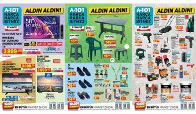 27 Mayıs A101 Aktüel Kataloğu! Hırdavat, elektronik, züccaciye, tekstil ve elektrikli ürünlerde..