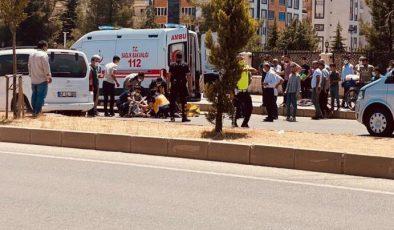 Yolun karşısına geçmek isterken aracın çarptığı şahıs ağır yaralandı