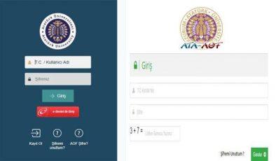 ATA AÖF final sınavı online giriş ekranı! 2021 Atatürk Üniversitesi Açıköğretim sınav takvimi!
