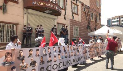 Diyarbakır'da HDP kepenk kapattı, aileler pankartlı tepki gösterdi