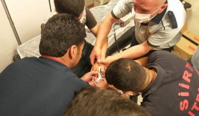 Parmağı somun anahtarına sıkışan çocuğun imdadına itfaiye ekipleri yetişti
