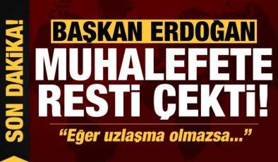 Son dakika: Başkan Erdoğan'dan muhalefete 'yeni anayasa' resti: Eğer uzlaşma olmazsa…