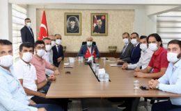 Mardin Valisi Demirtaş, tekstilci esnaf ile bir araya geldi