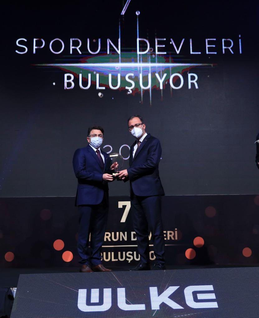 Kızıltepe Kaymakamı Çam'a 'spora destek veren yılın idarecisi' ödülü