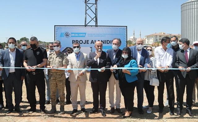 Mardin'de bin 500 kişinin istihdam edileceği yatırımın temeli atıldı