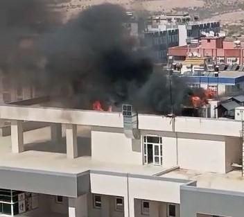 Mardin İl Sağlık Müdürlüğünde yangın