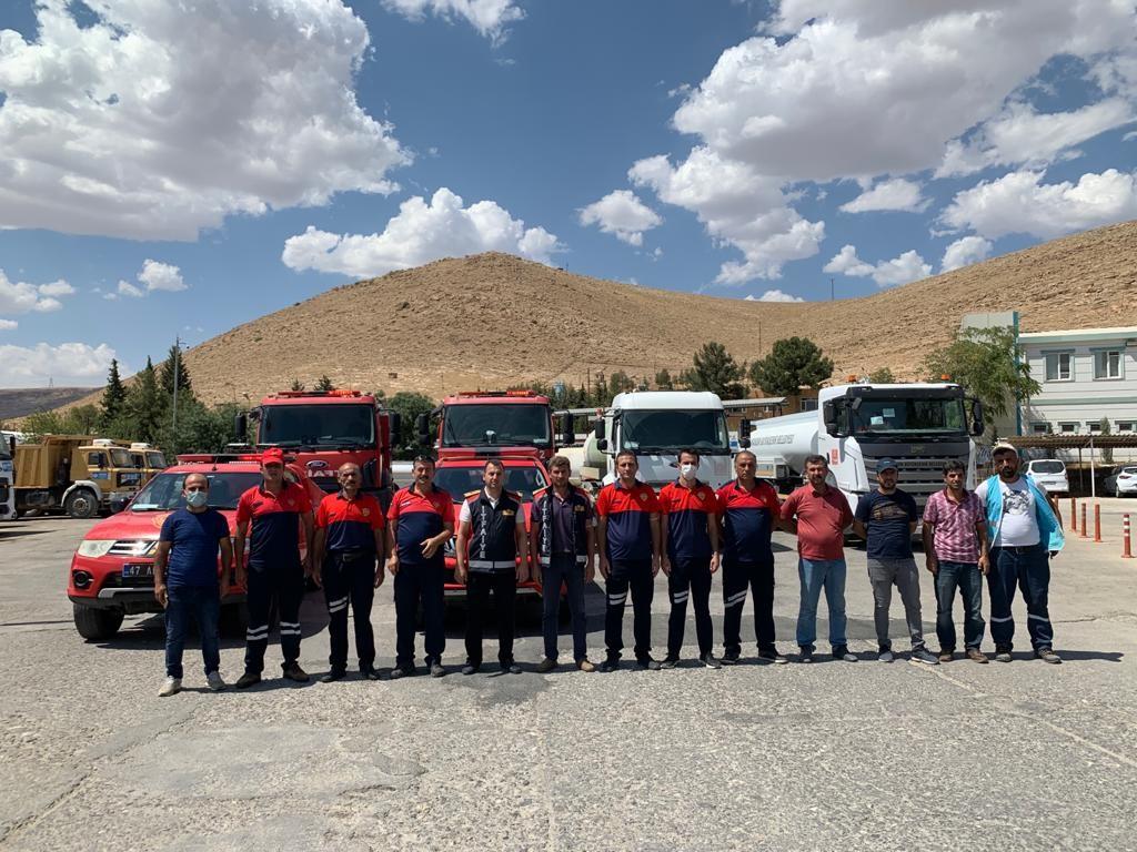 Mardin'den yangına müdahale için Manavgat'a takviye ekip gönderildi