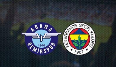 Adana Demirspor Fenerbahçe taraftarium, Adana Demirspor Fenerbahçe selçuk sports, Fenerbahçe Adana Demirspor şifresiz izle, Canlı Maç İzle