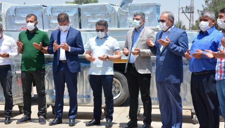 Kızıltepe'de Çöp Konteynerleri ve Çöp Sıkıştırma Araçlarının dağıtımı gerçekleştirildi