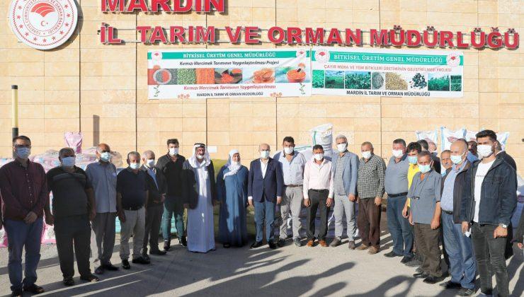 Mardin'de 914 çiftçiye tohum dağıtıldı