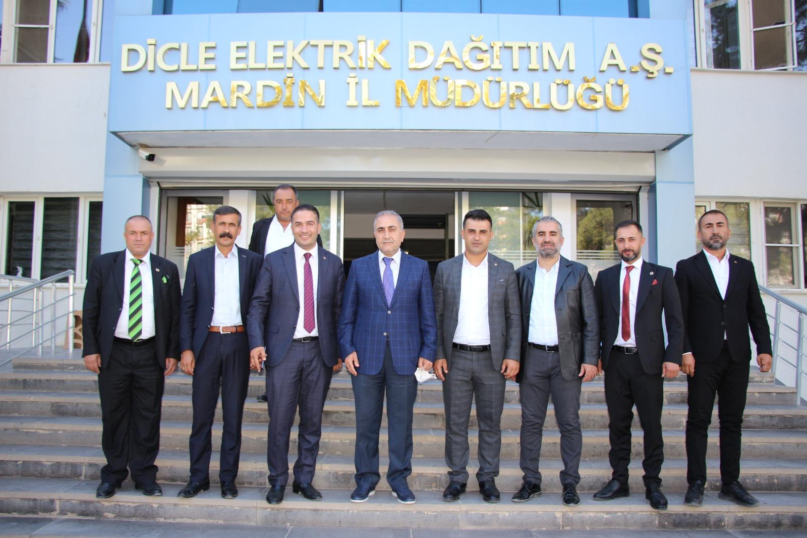 Mardinli muhtarlardan DEDAŞ İl Müdürü Homan'a destek ziyareti